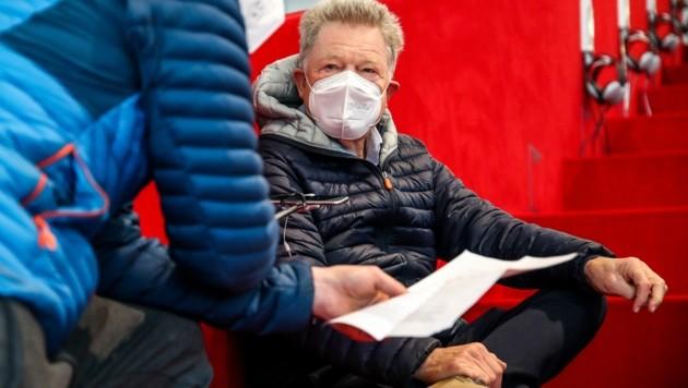 Immer noch topfit und auch schon Corona-geimpft: Rudi Quehenberger beim Interview. (Bild: Tröster Andreas)