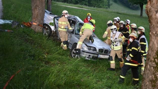 Der Horror-Unfall endete für den Beifahrer (29) mit dem Tod. (Bild: ZOOM.TIROL)