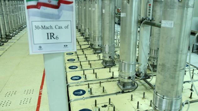 Zentrifugen in der iranischen Anlage in Natans reichern Uran an, das möglicherweise für den Bau von Nuklearwaffen eingesetzt werden kann. (Bild: AP)