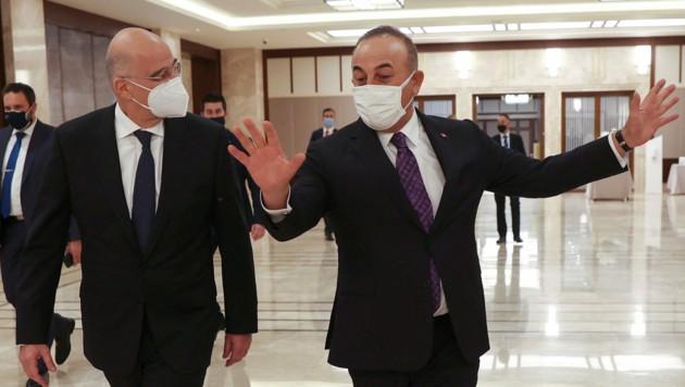 Nichts wurde es aus dem erhofften Annäherungsversuch zwischen Griechenland und der Türkei. (Bild: AFP/Adem ALTAN)