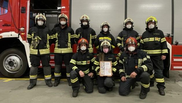Die Kameraden der Feuerwehr Gumpoldskirchen wurden ausgezeichnet. (Bild: FF Gumpoldskirchen)