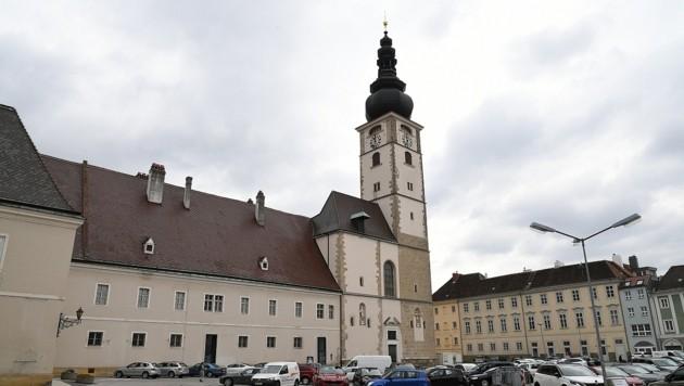 Der St. Pöltner Domplatz (Bild: P. Huber)