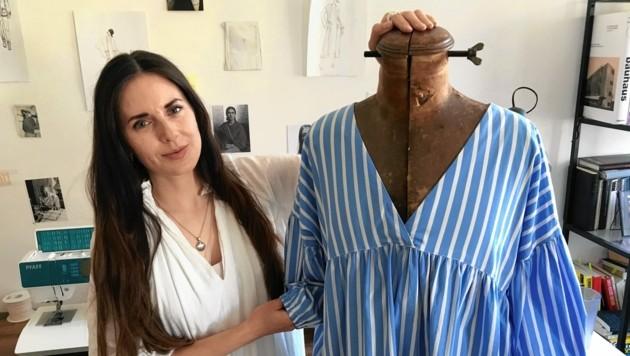 Ihre intelligente Mode präsentiert Mirnig heuer zum zweiten Mal bei der Ars Electronica. (Bild: Peter Kleinrath)