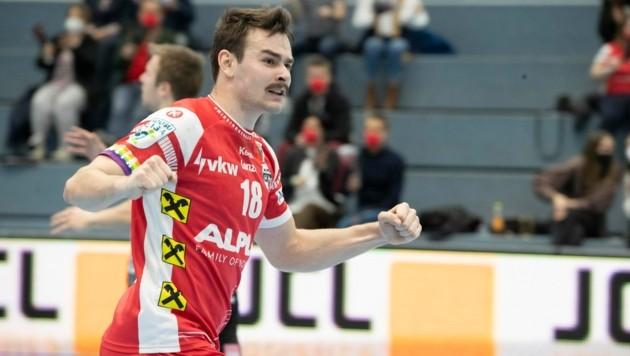 Paul Schwärzler trifft derzeit fast nach Belieben für den HC Hard. (Bild: Maurice Shourot)