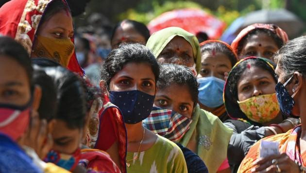 Indien meldete mit 234.000 Neuinfektionen erneut einen Höchstwert. (Bild: AFP)