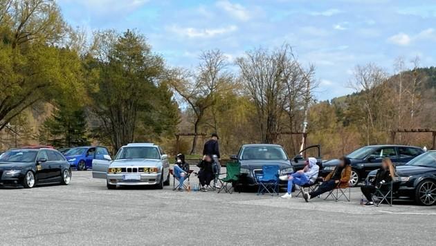 Autotreffen am Parkplatz beim Arneitz-Campingplatz am Faaker See. (Bild: zVg)