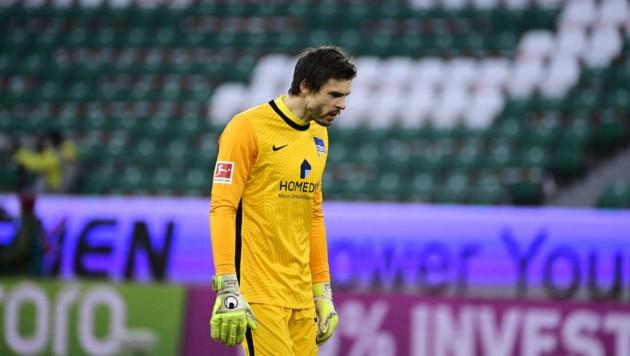 Hertha-Torhüter Rune Jarstein musste vor Kurzem wegen Corona sogar ins Krankenhaus - für ihn ist die Saison gelaufen. (Bild: AFP)