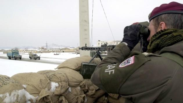 Sicherung eines Camps im afghanischen Winter (Bild: Bundesheer)
