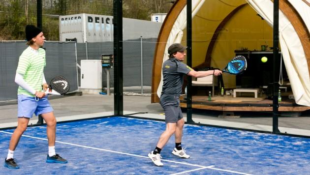 Neue Sportart: In Rankweil wurde der erste Padel-Tennis-Verein Vorarlbergs gegründet (Bild: Mathis Fotografie)