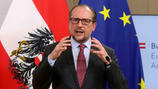 Außenminister Alexander Schallenberg (Bild: AP)