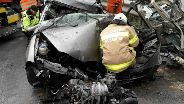 Tödlicher Unfall auf der B 156 (Bild: FF Nussdorf)