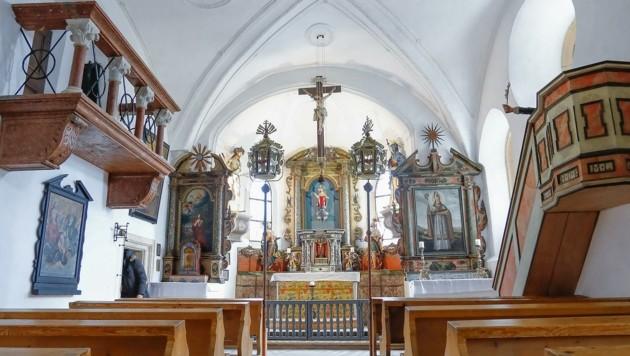 Auch die Gipsböden in der Burgkapelle wurden sorgsam saniert. (Bild: Gerhard Schiel)