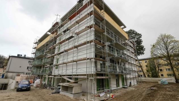 Der Bau boomt derzeit – ebenso wie die Errichtungskosten (Bild: Tschepp Markus)