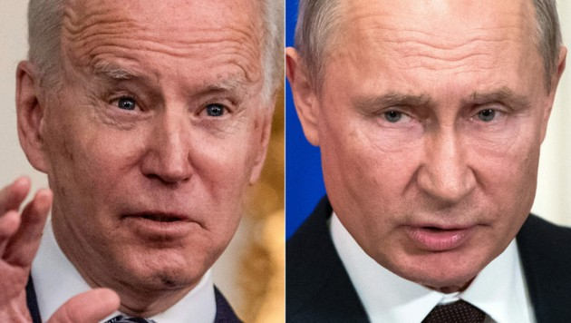 Putin will mit Biden reden - zunächst aber nur über den Klimwandel. (Bild: APA/POOL/AFP/Pavel Golovkin, Eric BARADAT)