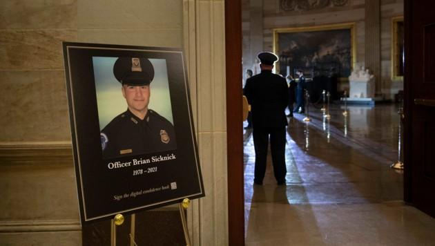 Brian Sicknick starb an einem Schlaganfall. (Bild: AFP)
