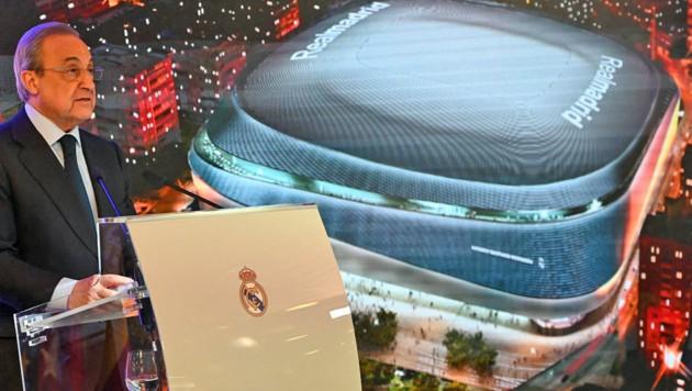 Real-Madrid- und Super-League-Präsident Florentino Perez (Bild: APA/AFP/GABRIEL BOUYS)