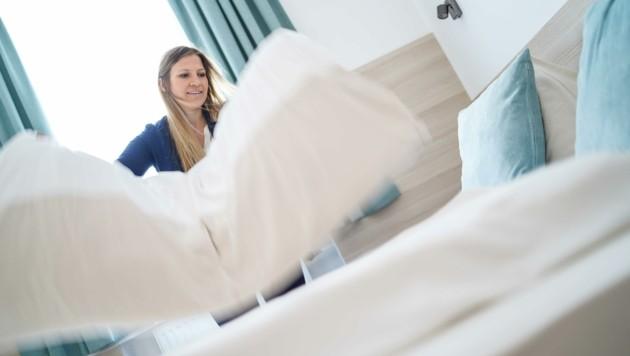 Alexandra Platzer führt ein Businesshotel in Wels (Bild: Wenzel Markus)