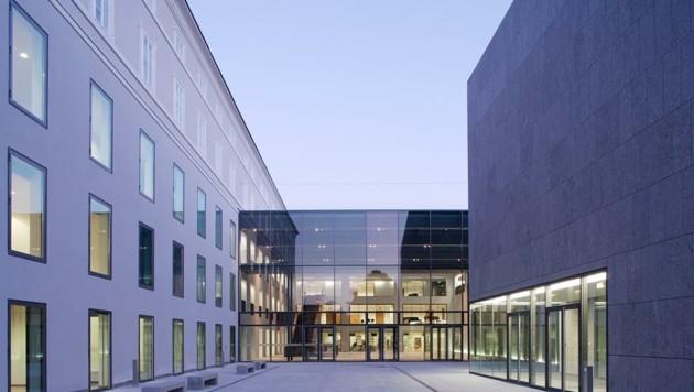 Auf der Liste der eingereichten Projekte für den Corona-Hilfsfonds steht auch der Neubau der Universität Mozarteum – geplant ist hier ein Schwerpunkt im Bereich der Digitalisierung. (Bild: Christian Schneider)