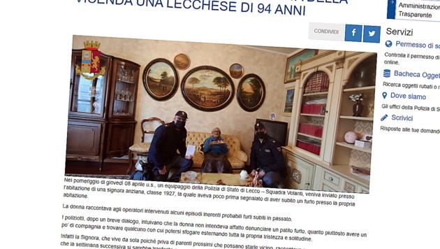 (Bild: Screenshot https://questure.poliziadistato.it/it/Lecco, krone.at)