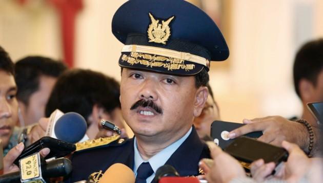 Militärsprecher Hadi Tjahjanto (Bild: AP)