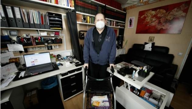 Walter Strejzovsky wartete drei Wochen auf den Rückruf für seinen mobilen Impftermin. (Bild: Reinhard Holl)