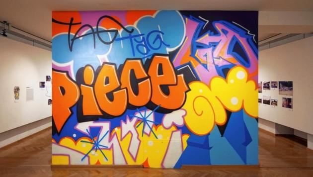 Graffitis im Museum - in der Stadtgalerie Klagenfurt. (Bild: Stefan Wogrin/Spraycity)