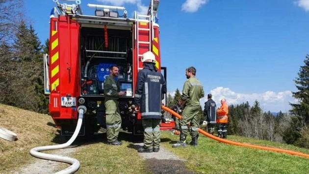 Beginnender Waldbrand in Langen. (Bild: Feuerwehr Langen)
