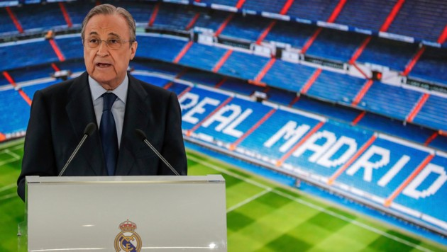 Real-Madrid-Präsident Florentino Perez (Bild: AP/Manu Fernandez)