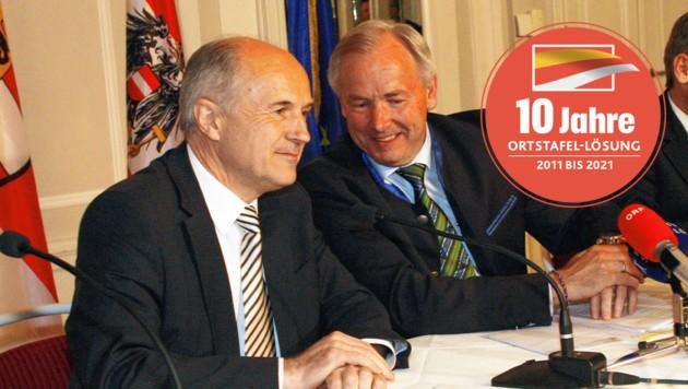 Valentin Inzko war der Sprecher der drei Slowenenorganisationen Rat, Zentralverband und Gemeinschaft. Damit war Inzko auch der stärkste Widerpart Gerhard Dörflers in den Verhandlungen. (Bild: Uta Rojsek-Wiedergut, Krone KREATIV)