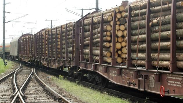 Seit Jahren gingen die Holztransporte auf der Franz-Josefs-Bahn kontinuierlich zurück, Kapazitäten könnte man kurzfristig erhöhen. (Symbolbild) (Bild: ANDI SCHIEL)