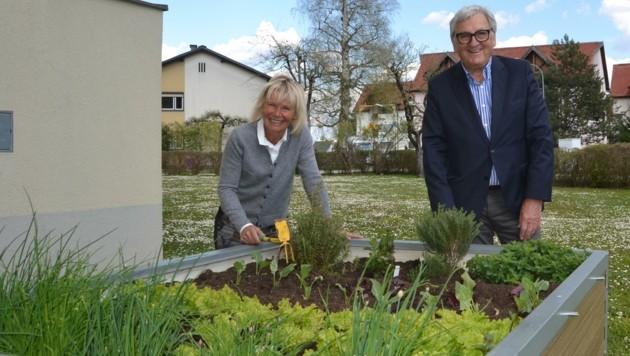 Mieterin Gitti Kotschnigg mit Helmut Manzenreiter. (Bild: Fister Katrin)