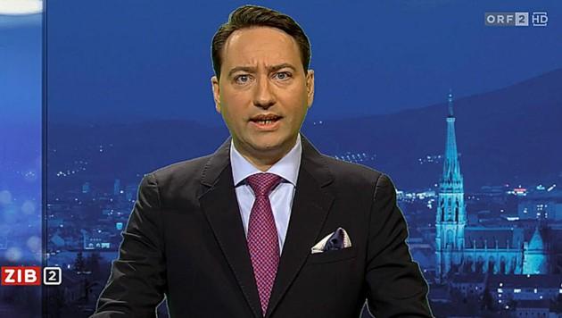 """Manfred Haimbuchner im der """"ZiB 2"""" (Bild: Screenshot/ORF)"""