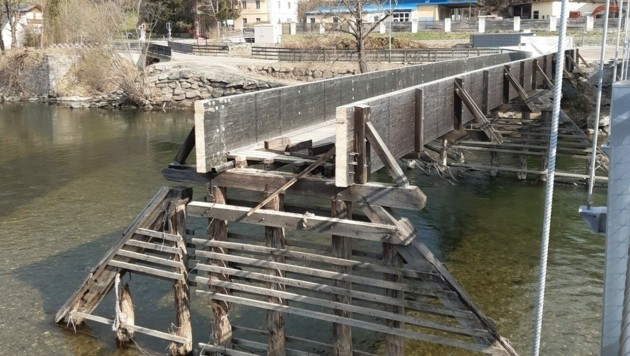 Die alte Brücke wurde abgerissen. (Bild: Arch. DI J. Bacher)