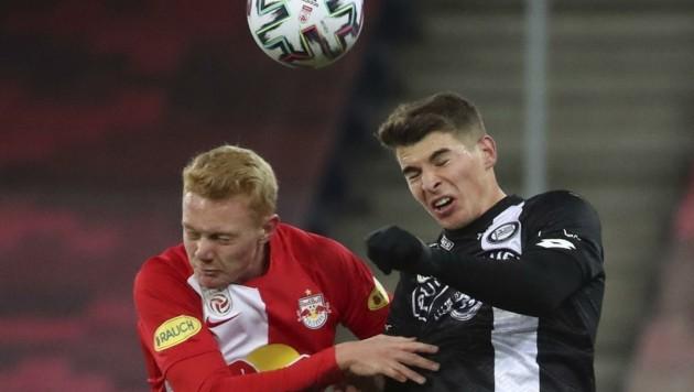 Seiwald (li.) ist bei den Bullen in der Bundesliga angekommen (Bild: Tröster Andreas)