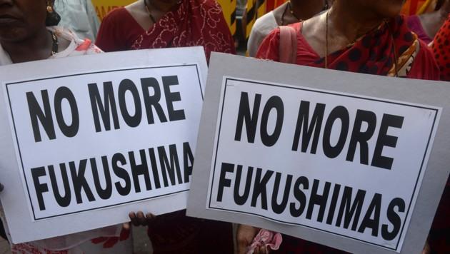 10 Jahre nach der Katastrophe von Fukushima setzt Indien immer noch auf Nuklearenergie. (Bild: APA/AFP/INDRANIL MUKHERJEE)