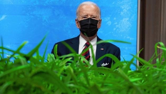"""Joe Biden, alles nur """"Pflanzerei""""? (Bild: AFP)"""