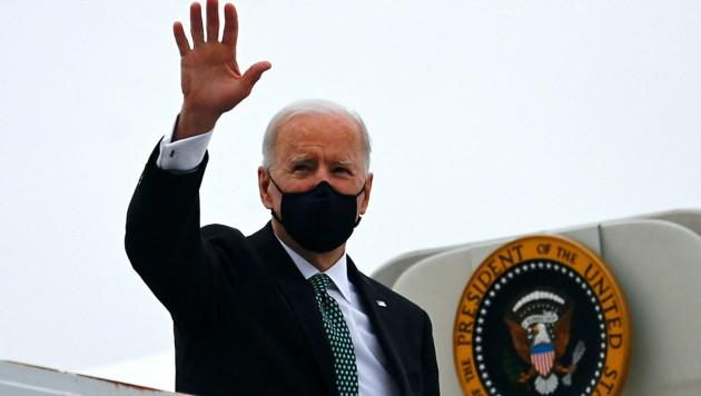 US-Präsident Joe Biden fliegt im Juni nach Europa. (Bild: APA/AFP/ANDREW CABALLERO-REYNOLDS)