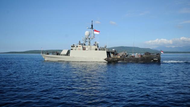 Die indonesische Marine hatte tagelang nach dem vermissten U-Boot gesucht. (Bild: AFP)