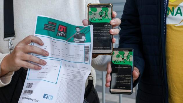 Der Grüne Pass soll in Österreich schon bald starten. In Israel berechtigt er schon länger zum Eintritt in die Gastronomie oder etwa zu Konzerten. (Bild: APA/AFP/Jack Guez)