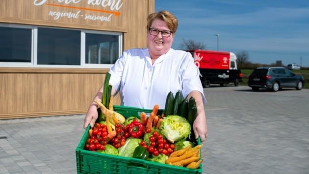 Brigitte Barth verkocht vor allem Produkte aus der regionalen Landwirtschaft. (Bild: Imre Antal)