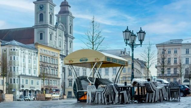In der Landeshauptstadt Linz wird die Serie gedreht (Bild: Einöder Horst)