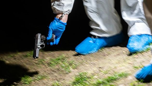 Die Tatwaffe beim Mordfall in Wien-Brigittenau (Bild: APA/Georg Hochmuth)
