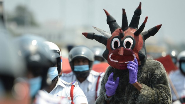 """Indien wollte nicht mehr für die """"indische Variante"""" verantwortlich gemacht werden. (Bild: APA/AFP/Arun SANKAR)"""
