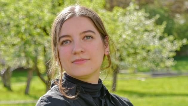 Evamaria Müller bekam das erste Stipendium als Schwazer Stadtkünstlerin. (Bild: Hubert Berger)