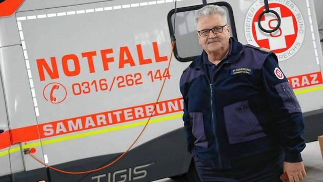 Der Samariterbund Graz mit Geschäftsführer Peter Scherling sen. ist ein finanzieller Notfall. (Bild: Christian Jauschowetz)