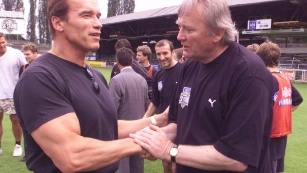 Ivan Osim mit Arnold Schwarzenegger (Bild: Pail josef)
