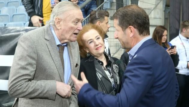Ivan Osim mit Gattin Asima und Franco Foda (Bild: Sepp Pail)