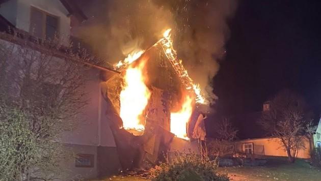 Der Brand dürfte in der Küche ausgebrochen sein. (Bild: FF Eichberg)