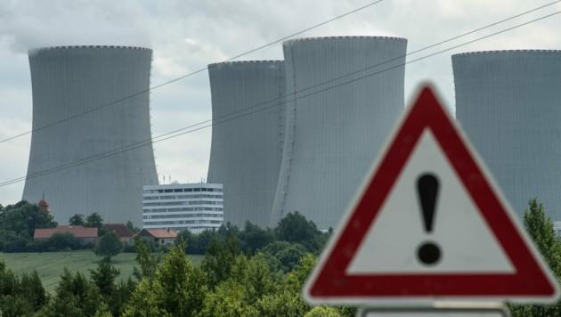 Das tschechische Atomkraftwerk Temelin nahe der österreichischen Grenze (Archivbild) (Bild: dpa/Armin Weigel)