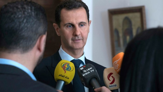 Der syrische Machthaber Bashar al-Assad in einem Archivfoto aus dem Jahr 2018. (Bild: AP)
